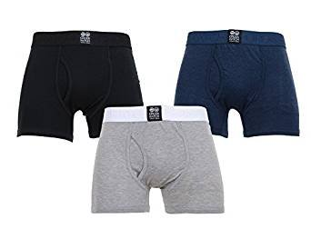 2 / 3 Pack Mens Crosshatch Designer Boxers Shorts Underwear Trunks Multipack Set (LARGE, TRIPLET 3 PACK)