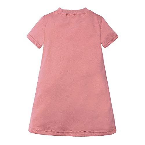 Julhold Kleinkind Kinder Baby Mädchen Mode Slip Prinzessin Kleider T-Shirt Beiläufige Lose Atmungsaktive Kleidung 1-6 Jahre