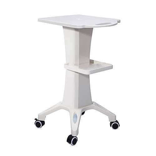 Beauty Cart, tragbare medizinische Cart, Push und Pull ist bequemer, kann EIN Gewicht von 50 kg tragen (Farbe : Weiß) ()