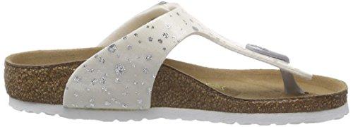 Birkenstock Gizeh - Sandali con Cinturino alla Caviglia Bambina Weiß (Diamond Rain White)