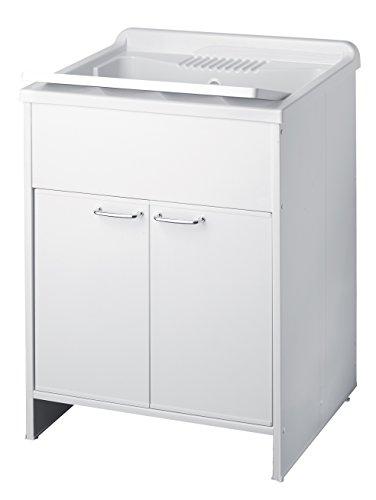 Negrari 9002K Lavatoio Lavapanni PVC L60 x P50 x H85 Bianco