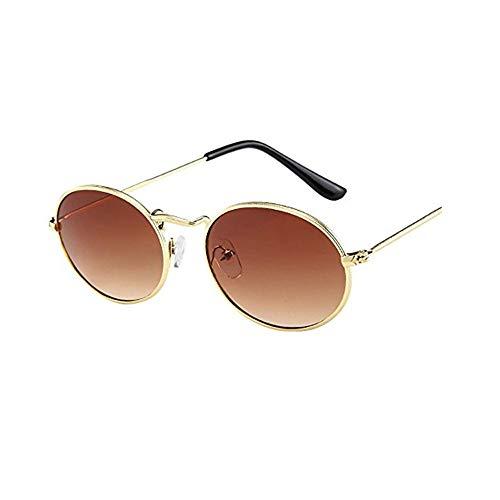 XMoments Vintage retro oval sonnenbrille ellipse metallrahmen brille trendy fashion shades sunglasses luxury ladies Sonnenbrille Outdoor-Brille für Frauen
