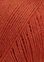 LANG YARNS Merino 400 Lace - Farbe: Braunorange (0075) - 25 g / ca. 200 m Wolle -