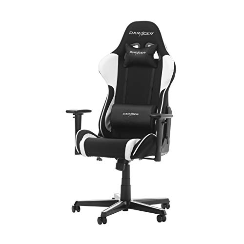 DX Racer OH/FL11/NW – Asiento Gaming Negro/Blanco