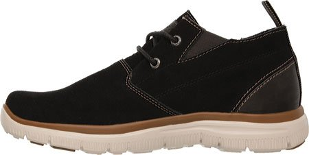 Skechers Hinton Franken, Baskets Basses homme Black Suede
