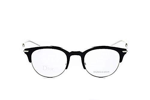 Dior homme dior0202 g6n occhiali, uomo, colore: nero/opaco, telaio in metallo, materiale: metallo/plastica