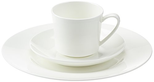 Rosenthal 61040-800001-18735 Jade weiß 18-teiliges Fine Bone China Kaffeeset Weiße Fine China