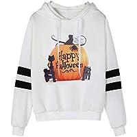 Geili Sweatshirt Damen,Damen Langarm Halloween Kürbis Drucken mit Kapuze Sweatshirt Beiläufige Hoodie Pullover... preisvergleich bei billige-tabletten.eu