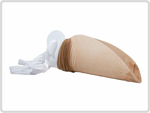 Sockenanziehhilfe, Strumpfanziehilfe, Strumpfanzieher, Sockenanzieher aus Kunststoff Farbe: Weiß *Top Qualität*