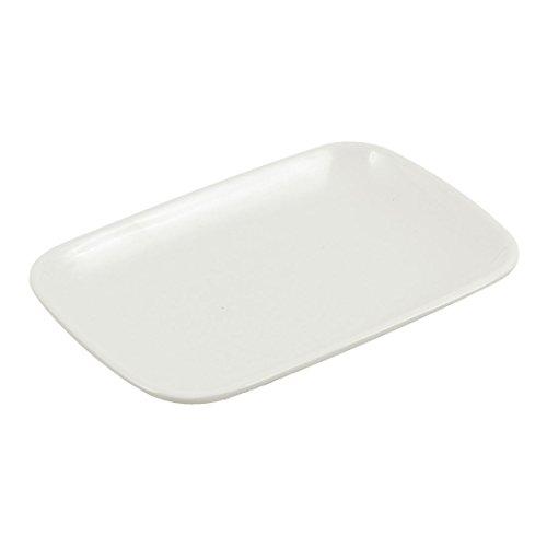 sourcingmap Rechteckform Teller aus Kunststoff für Nachtisch Kuchen und Vorspeise Vorspeise
