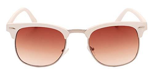Sonnenbrille Männer Sommer Style Sonnenbrille Niet Frame Farbige Beschichtung Farbtöne Weißer Rahmen Braun Linse