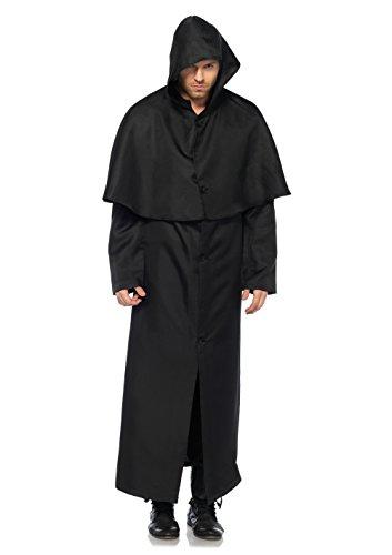 Leg Avenue 2147 Mantel, Männer Karneval Kostüm Fasching, M/L, schwarz (Schnabel Arzt Kostüm)