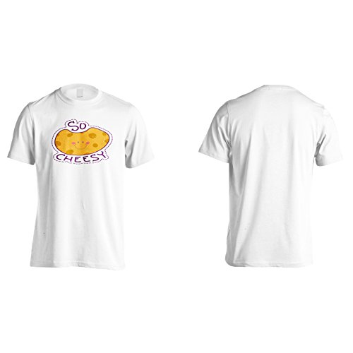 Così la novità divertente cheesy nuova arte Uomo T-shirt c547m White