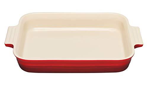 Le Creuset Steinzeug Auflaufform rechteckig, 24 x 32 cm, kirschrot