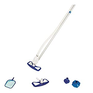 Bestway 58234-19 Flowclear AquaClean - Kit di pulizia per piscine, con sistema pompa filtrante, multicolore