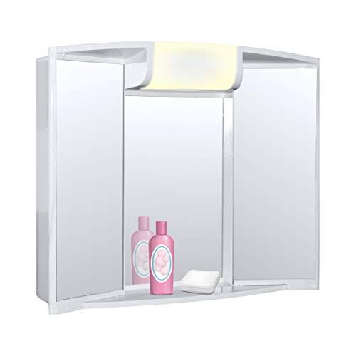 Spiegelschrank Angy mit Voltux Leuchtmittel E14 5W LED Birne Set -
