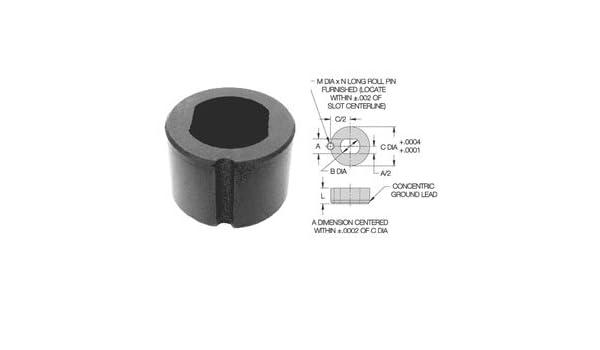 CL-6-SLLB Carr Lane Manufacturing Slotted Locator Bushing Pin Diameter 3//8