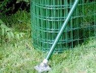 Einschlag-Bodenhülse mit Strebenplatte Einschlaghülse für Zaunpfosten 34mm von BawiTec - Du und dein Garten