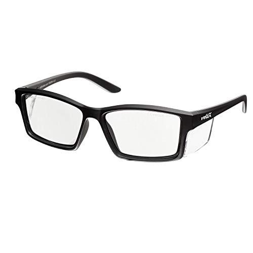 voltX 'Vision' Sicherheitsleser, Vollverglaste Sicherheitsbrille (+1.0 Dioptre, klare Linse) CE EN166ft Zertifiziert - beschlagfreie UV400 Linse