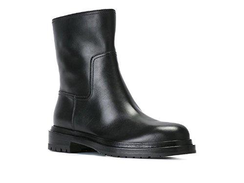 bottines-plates-sergio-rossi-en-cuir-noir-code-modele-a75960-mmvn09-1000-370-taille-36-eu