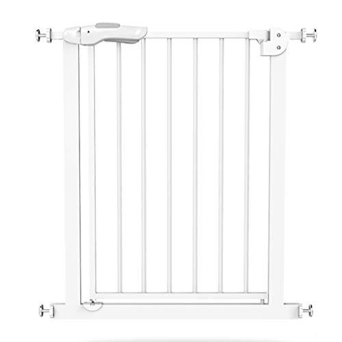 Barrière de sécurité Très Grands et Larges Porte-bébé - Porte-bébé en métal Blanc, Haut des escaliers, montés sur Le matériel, Largeur 82-200cm (Taille : Width 102-110cm)