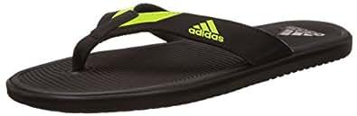 adidas Men's Orrin M Dark Grey, Black and Yellow Flip-Flops and House Slippers - 6 UK