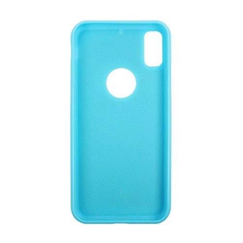 Anti Gravity Schutzhülle für Apple iPhone X / iPhone 10 5.8 Zoll Case Handy Cover Hellblau