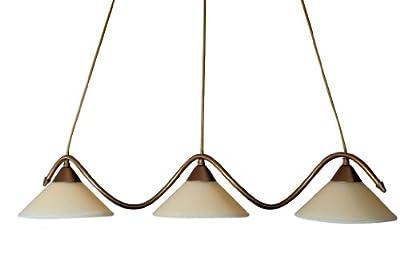 MASSIVE Pendelleuchte Hängelampe 3x 40 Watt E14 Bronze Style Energiesparlampen geeignet