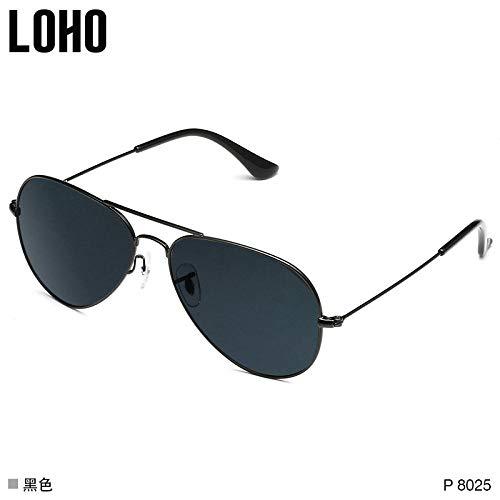 LOHO Hipster Brille Pilot polarisierte Sonnenbrille rundes Gesicht Persönlichkeit Frosch Spiegel Myopie Sonnenbrille Männer Fahrer Spiegel