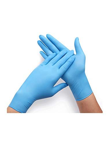 WYSTAO Wasserdichte Haushaltsküchengeschirrspülmittel-Einwegreinigungshandschuhe haltbare weibliche Handschuhe (Farbe : Blau, größe : M)