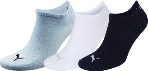 Puma Unisex Sportsocken  3er Pack, Mehrfarbig(Angel Fall/White/Estate Blue), 43-46 - , 251025