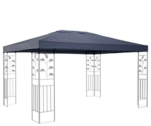 QUICK STAR Ersatzdach für Blätter Pavillon 3x4m Pavillondach Grau Ersatzbezug