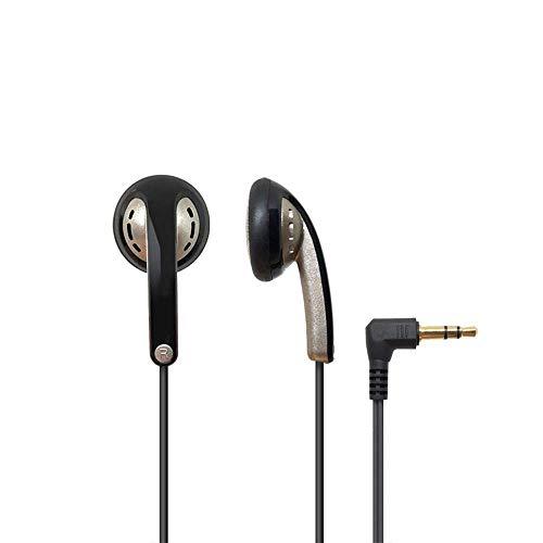 XF Kabelgebundene Headsets Kopfhörer - ausgewogener Bass-Drive-Sound, kompakt und komfortabel, schalldicht, Flacher Kopf mit In-Ear-Kabel Headsets (Farbe : B)