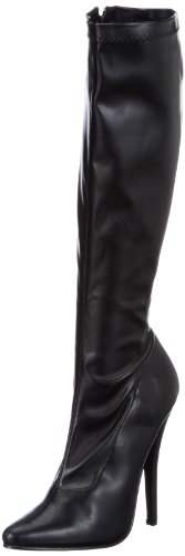 Devious DOMINA-2000, Damen Stiefel, Schwarz (Blk str pu), EU 38 (UK 5) (US 8)