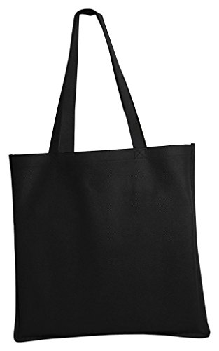 Port & Company – Borsa da donna in polipropilene. B156 Black