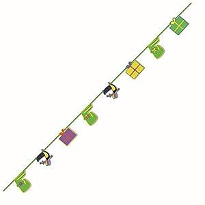 Procos 90559 - Guirnalda de Papel con diseño de cocodrilo, Color Verde