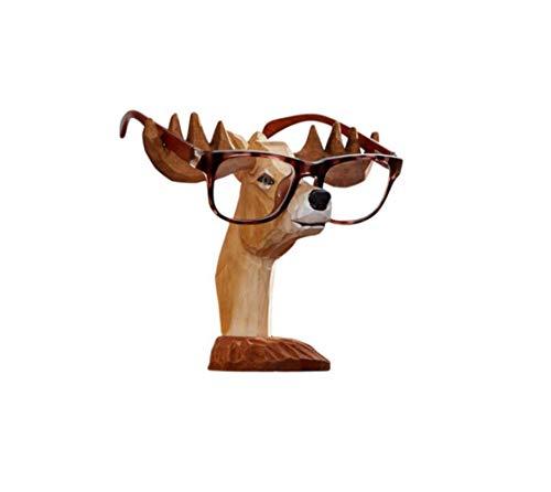 Glasses Display Stand, Display Stand Sonnenbrille Holz Nasenhalter Vintage Handmade Deer Sculpture