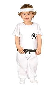 Guirca - Disfraz de Kung Fu con traje y cinta, para niños de 12-24 meses, color blanco (83301)