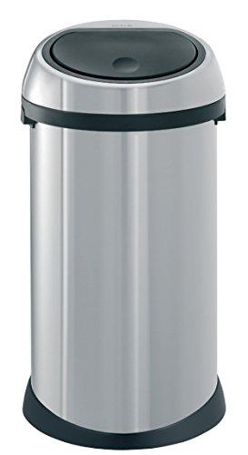 BRABANTIA 378706 Design Abfalleimer Touch bin ® 50 L Fingerprint Proof matt steel Bin Matt Steel