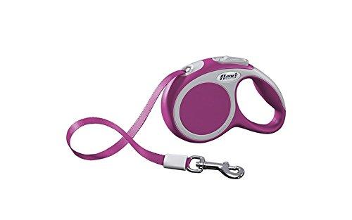 Flexi Roll-Leine Vario XS Gurt 3 m pink für Hunde, Katzen und Kleintiere bis max. 12 kg (Leine Seil Gurt)
