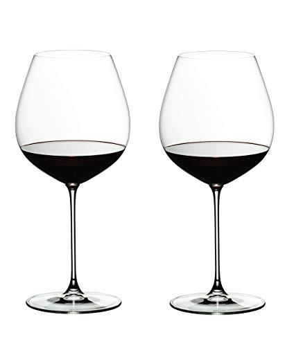 RIEDEL 6449/07 Riedel Veritas Old World Pinot Noir, 2-teiliges Rotweinglas Set, Kristallglas
