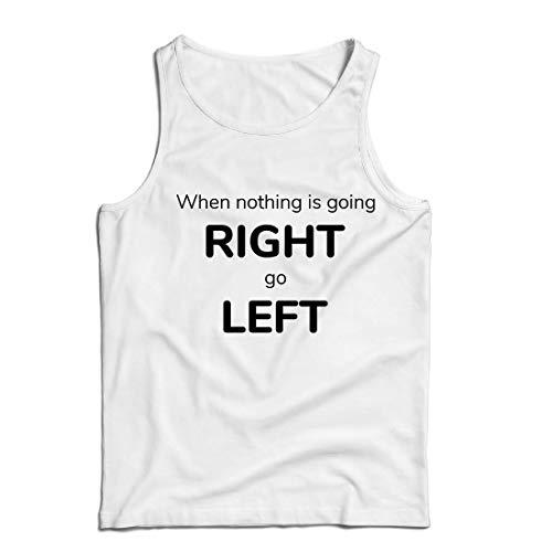 lepni.me Weste Wenn Nichts nach rechts geht, dann nach Links, Lustiges Sprechen (X-Large Weiß Mehrfarben) (Medium Gamer-handschuhe)