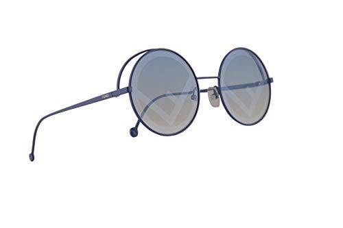Fendi FF0343/S Sonnenbrille Blau Mit Blauen Silbernen Gläsern 53mm MVU7R FF0343S FF 0343/S
