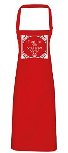hippowarehouse I Am The 4. Sanderson Sister Pentagramm Schürze Küche Kochen Malerei DIY Einheitsgröße Erwachsene, rot, (Skull Kostüm Red Candy)
