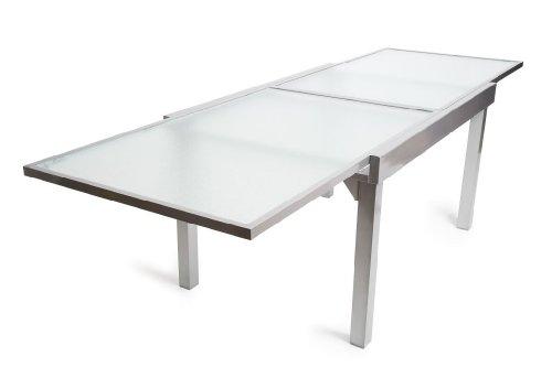Gartentisch Glas Ausziehbar.Gr Glas Ausziehtisch Milano Rechteckig 135 270 X 90 Cm