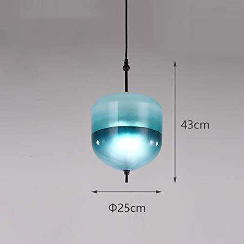 WnLit Teardrop Lampe Kronleuchter Pendelleuchte Glas Hängelampe Hängeleuchte Kristalle Hängen Tropfen Anhänger Glas Unregelmäßige Deckenleuchten [Energieklasse A],Blau,A -