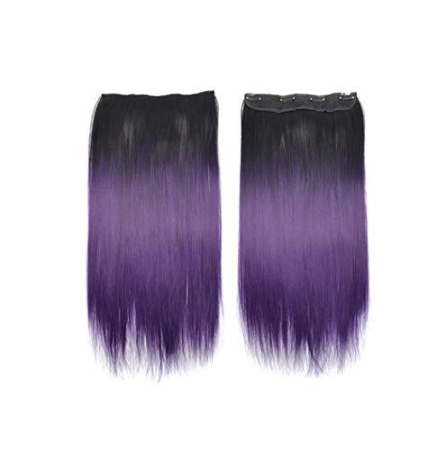 Malloom Einteilige Haarverlängerungsperücke Haar Erweiterungen Gerade Haar-Verlängerungs-langes Haarteil für Mode-reizvolle Frauen
