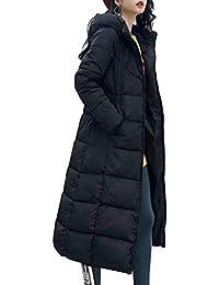 Baumwolle Damen Chic Daunenjacken Overknee Kapuze Winter Gr.L-5XL Parkas Mäntel