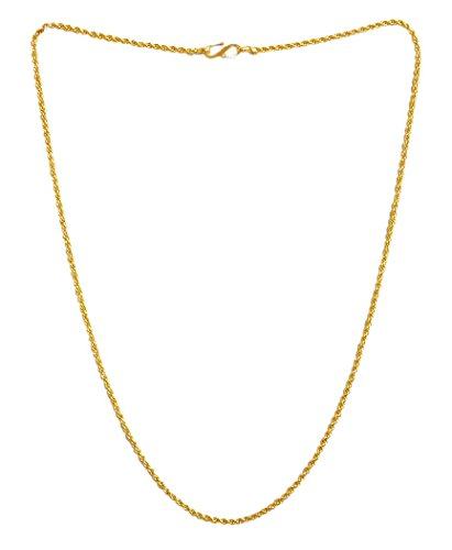 DollsofIndia Gold Plated Chain - Length - 18.5 Inches (RD86-mod) - Golden