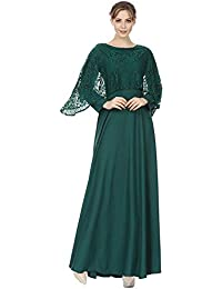 Meijunter Robes Musulmanes pour Femmes - Robe de Prière en Dentelle à  Manches Longues Abaya Vêtements Islamiques Arabe Dubai… 3bff2c59a3b